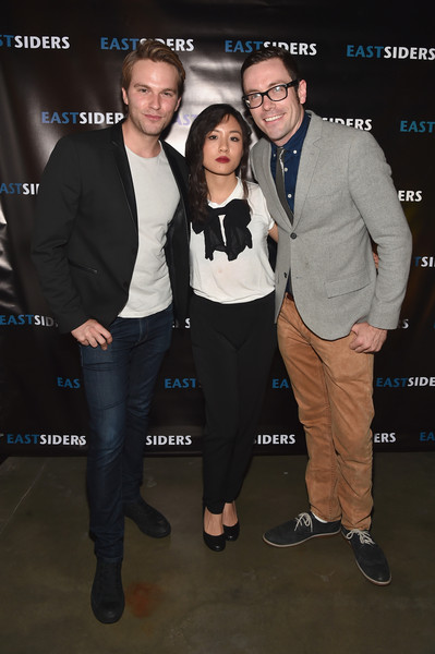 More Pics of Constance Wu Pumps (1 of 6) - Heels Lookbook - StyleBistro [eastsiders,event,suit,premiere,formal wear,kit williamson,actors,writer,constance wu,van hansis,premiere of go team entertainment,the downtown independent,season,premiere]