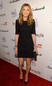 Sarah Chalke was low-key in a no-frills LBD and a pair of black pumps at the 'Ass Backwards' premiere.