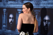 Emilia Clarke pulled her hair back into a tight ponytail for the 'Game of Thrones' season 6 premiere.