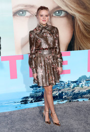Ava Phillippe looked tres sweet in a metallic floral dress by Haney at the premiere of 'Big Little Lies.'