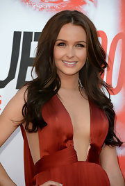 Camilla wore her hair in long romantic waves for the premiere of 'True Blood.'