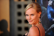 Kate Bosworth showed off her gemstone dangle earrings while hitting the 'True Blood' premiere.