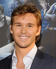 Ryan Kwanten showed off his short straight cut while hitting the 'True Blood' premiere.