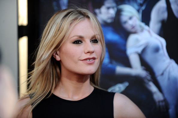 Anna Paquin posed for the camera as her hair fluttered in the air.