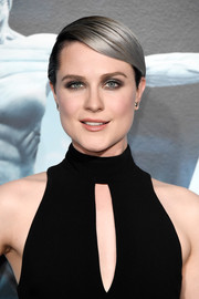 Evan Rachel Wood rocked slicked-down silver hair at the premiere of 'Westworld.'