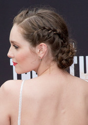 Amy Forsyth topped off her look with a lovely braided bun when she attended the premiere of 'The Path.'