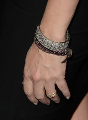 A silver jeweled bracelet topped off Lea Thompson's red carpet look at the premiere of 'Call Me Crazy.'