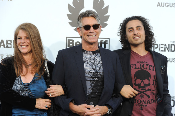 More Pics of Eric Roberts Cateye Sunglasses (1 of 10) - Eric Roberts Lookbook - StyleBistro [the expendables,eyewear,fashion,event,photography,fun,musician,art,eric roberts,keaton simmons,eliza roberts,grauman,chinese theatre,california,hollywood,lionsgate films,premiere]