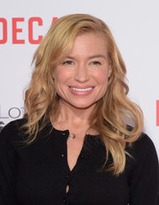 Tracy Anderson attended the premiere of 'Mortdecai' sporting chic piecey waves.
