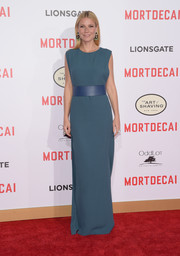 Gwyneth Paltrow's belted teal Lanvin gown at the premiere of 'Mortdecai' was oh-so-elegant in its simplicity.
