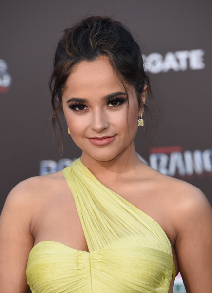 Becky G worked a glamorously disheveled updo at the LA premiere of 'Power Rangers.'