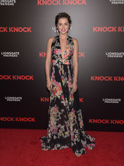 Ana de Armas looked romantic in a floor-sweeping print dress during the premiere of 'Knock Knock.'