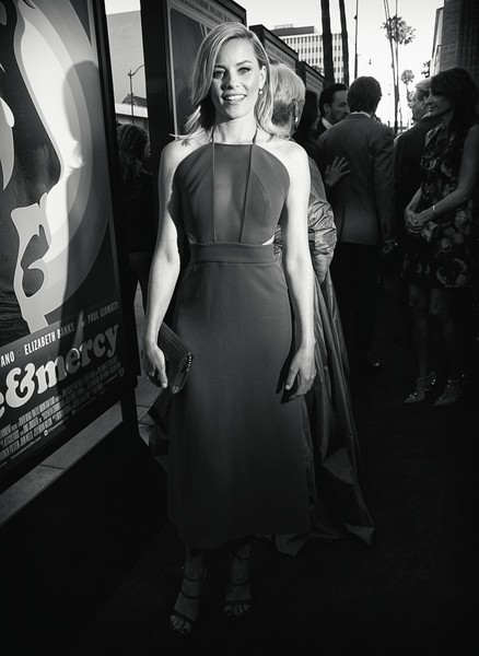 More Pics of Elizabeth Banks Strappy Sandals (1 of 3) - Heels Lookbook - StyleBistro [image,black,photograph,black-and-white,dress,monochrome,fashion,beauty,monochrome photography,snapshot,photography,elizabeth banks,love mercy,samuel goldwyn theater,california,lionsgate,roadside attractions,red carpet,premiere,premiere]