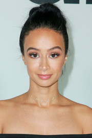 Draya Michele pulled her hair back into a loose bun for the premiere of 'Wonder.'