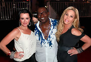 Adrienne Maloof spruced up her dark outfit with a striped cuff bracelet at the premiere of Los Angeles Food and Wine.