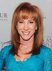 Kathy Griffin attended the premiere of Los Angeles 'Food & Wine' in a gorgeous aqua dress that made the most of her lovely blue eyes and shiny copper hair.
