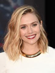 Elizabeth Olsen sported summer-chic waves at the premiere of 'Avengers: Age of Ultron.'
