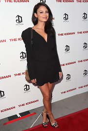 Nathalie Kelley took a fashion risk with this baggy LBD at the premiere of 'The Iceman.'