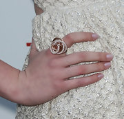 McKaley Miller complemented her lovely dress with a stunning diamond ring at the premiere of 'The Iceman.'
