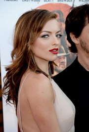 Francesca Eastwood was stylishly coiffed with flippy layers at the premiere of 'Outlaws and Angels.'