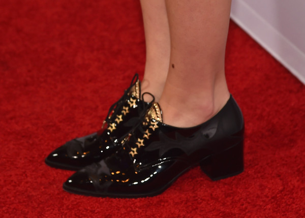 More Pics of Brooklyn Decker Brogues (1 of 14) - Brooklyn Decker Lookbook - StyleBistro [grace and frankie,footwear,shoe,high heels,red,leg,ankle,mary jane,basic pump,joint,human leg,red carpet,brooklyn decker,shoe detail,california,los angeles,regal cinemas l.a. live,netflix,premiere,premiere]