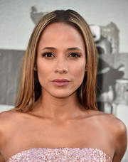Dania Ramirez opted for a sleek center-parted 'do when she attended the premiere of 'Lights Out.'