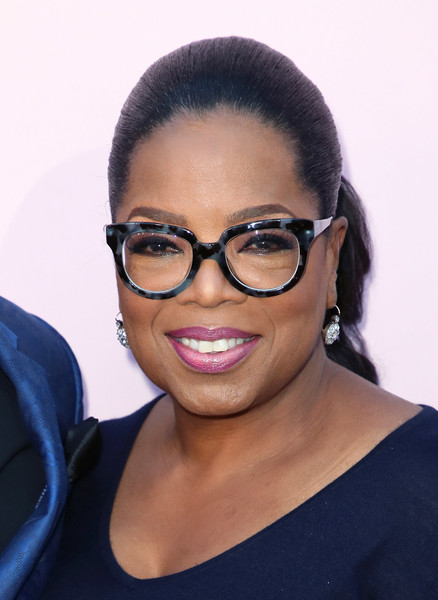 Oprah Winfrey pulled her hair back into a neat ponytail for the premiere of 'Love Is _.'