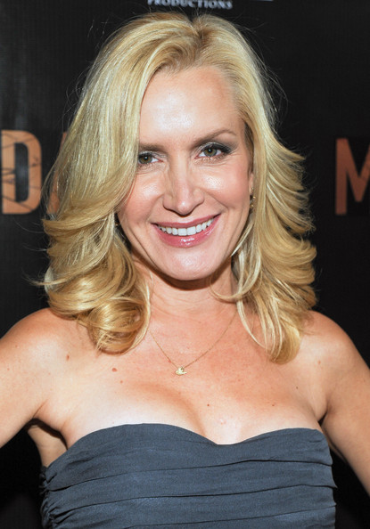 More Pics of Angela Kinsey Medium Layered Cut (1 of 5) - Angela Kinsey Lookbook - StyleBistro