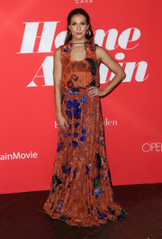 Allison Holker was boho-chic in a floral maxi dress at the premiere of 'Home Again.'