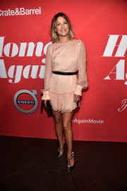 Ali Larter looked very feminine in a blush ruffle-hem cocktail dress at the premiere of 'Home Again.'