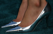 Rebecca Da Costa sported a pair of futuristic-style pumps at the premiere of the new sci-fi thriller 'The Host.'
