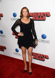 Laura Prepon went for a flirty look with this super-short LBD during the 'Machete Kills' premiere.