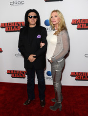 Shannon Tweed brought some shine to the 'Machete Kills' premiere with her silver skinny pants.