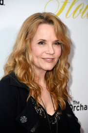 Lea Thompson wore her hair in a tumble of curls at the premiere of 'Flower.'
