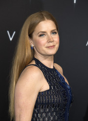 Amy Adams kept it super simple with this straight center-parted style at the LA premiere of 'Arrival.'