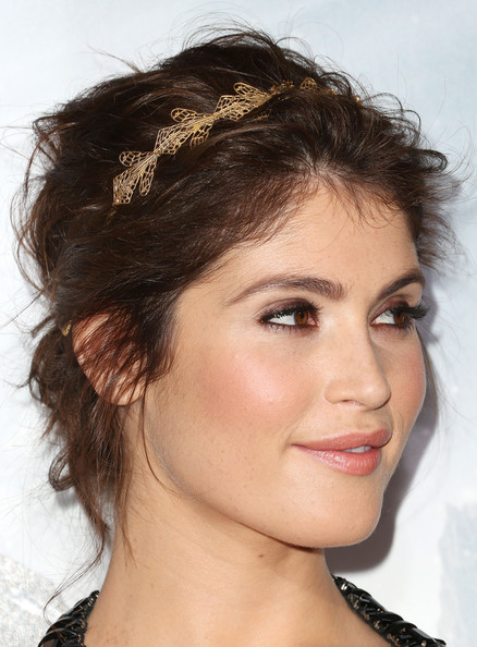 More Pics of Gemma Arterton Messy Updo (1 of 22) - Updos Lookbook - StyleBistro