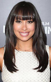 Cheryl Burke chose this layered 'do with bangs for her look at the premiere of 'Pain & Gain.'