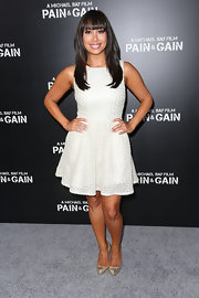 Cheryl Burke rocked this fit-and-flare, backless dress at the premiere of 'Pain & Gain.'