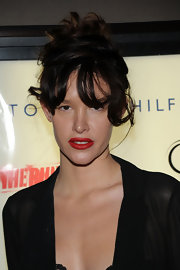 Paz de la Huerta wore a very dramatic messy updo to the premiere of 'The Runaways.'