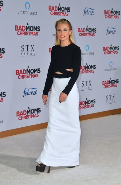 More Pics of Kristen Bell Medium Straight Cut (4 of 9) - Kristen Bell Lookbook - StyleBistro
