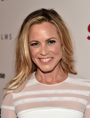 Maria Bello wore her tresses down in a messy-chic style during the premiere of 'The Confirmation.'