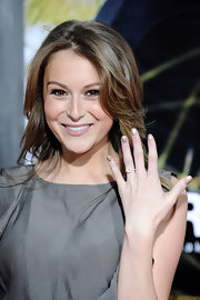 Alexa Vega shows off her stunning diamond engagement ring.