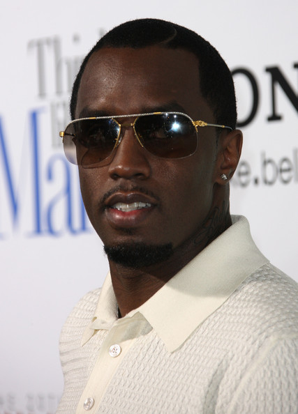Sean Combs finished off his ensemble in luxe style with a pair of bedazzled aviators when he attended the premiere of 'Think Like a Man.'