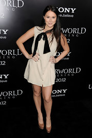Alexa Vega topped off her mini dress with sky-high platform pumps.