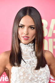 Eiza Gonzalez topped off her look with perfectly sleek hair when she attended the premiere of 'Baby Driver.'