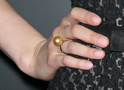 Greta Gerwig accessorized with a simple yet classy pearl ring at the 'Damsels in Distress' premiere.
