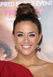 Jana Kramer wore her hair in a high loose bun at the premiere of 'The Vow.'