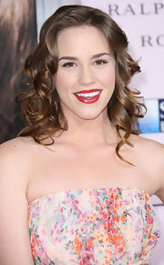 Christa B. Allen wore her hair in long spiral curls at the premiere of 'The Vow.'