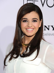 Rebecca Black wore a soft baby pink lipstick with a top layer of clear gloss at the premiere of 'The Vow.'