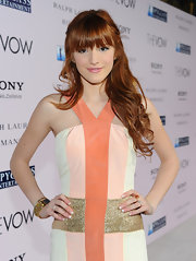 Bella Thorne completed her pretty pastel look with a ladylike French manicure for the premiere of 'The Vow.'